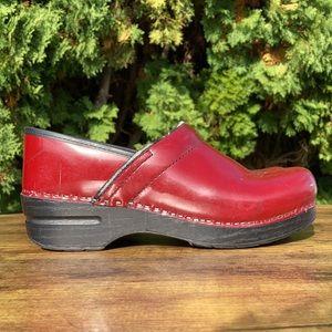 Dansko Professional Red Leather Clog Size 39